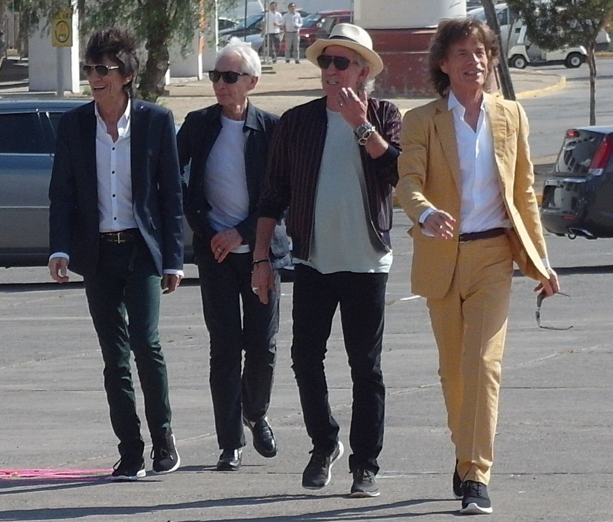 The Rolling Stones Chile press photos and rehearsals